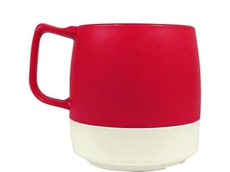 8oz. Mug 2TONE Red/Off White