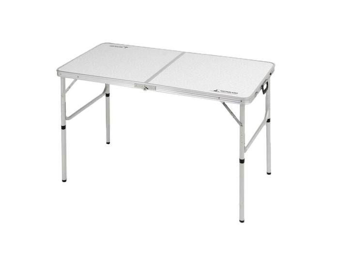 ラフォーレアルミツーウェイテーブル(アジャスター付)〈M〉120×60cm