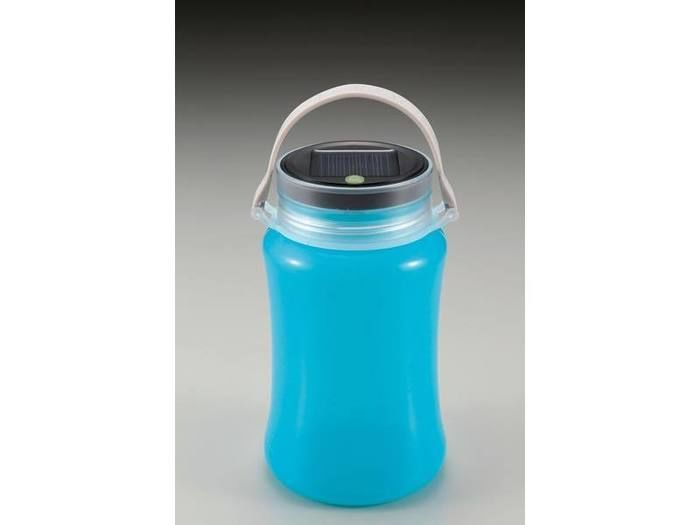 フローティングLEDランタン<ソーラー&USB充電式>ブルー