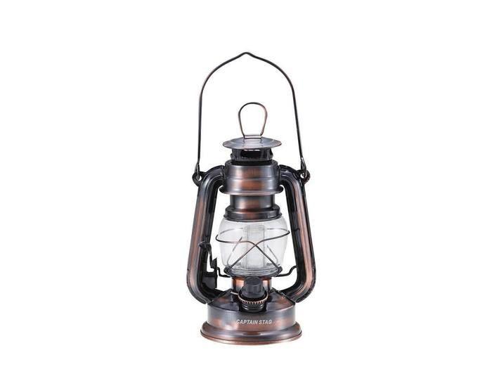 アンティーク暖色LEDランタン(ブラウン)