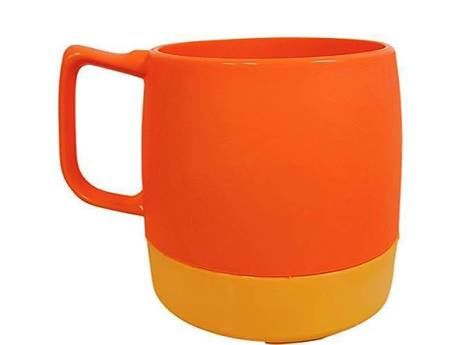 8oz. Mug 2TONE Orange/Yellow