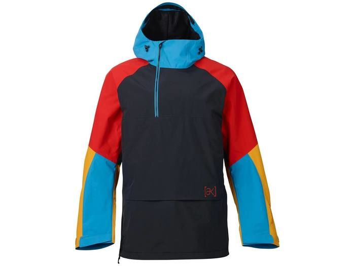 Burton [ak] 2L Velocity Anorak Jacket True Black/Hazmat/Heisenburg/Burne
