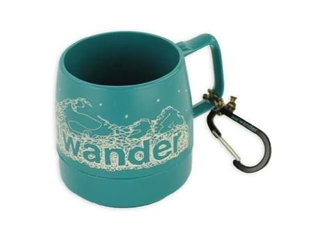 and wander DINEX printed mug teal