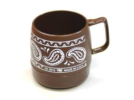 Wide Printed 8 oz.Mug Chocolate / BANDANA
