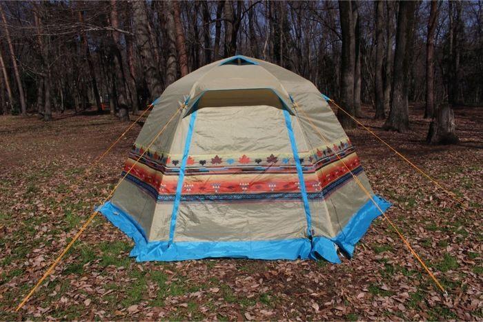 ロゴス「LOGOS ナバホ the Pao」のテント、フライシート、設営完了