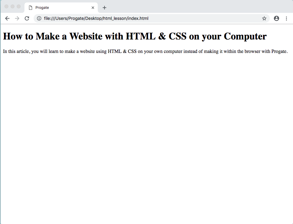 How To Make A Website With Html Css On Your Computer Progate