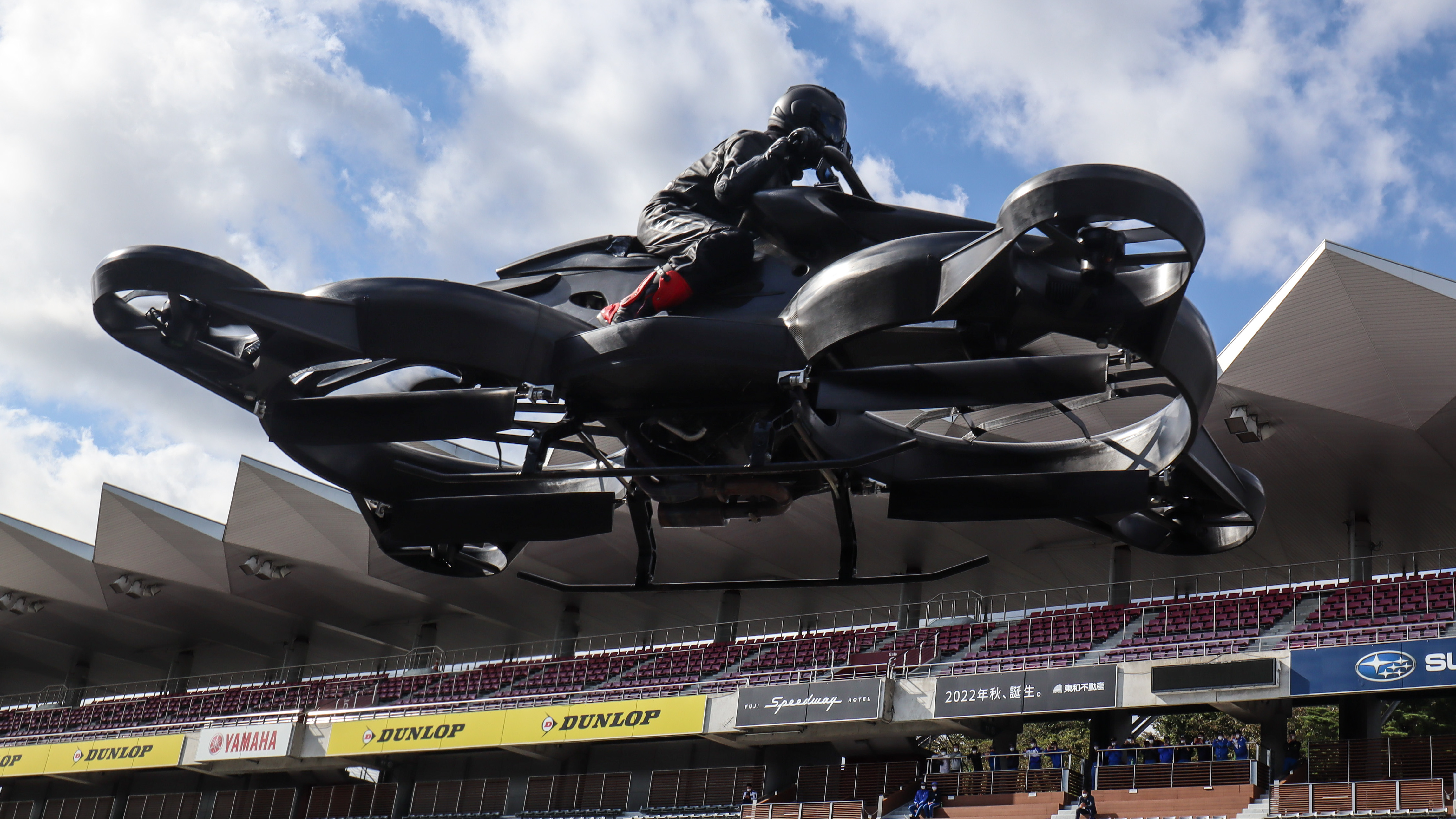 nikkei.com - Staff Writer - Japan drone maker's flying motorcycle to hit the skies next year