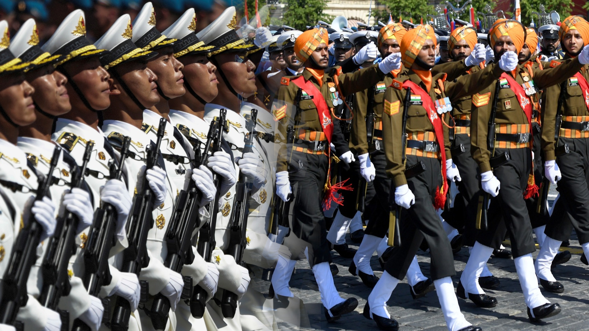 Chinese and Indian troops march in same parade as Putin watches - Nikkei  Asian Review