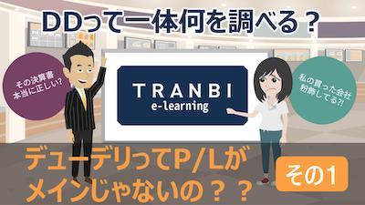 TRANBI e-learning「デューデリってP/Lがメインじゃないの?その1」