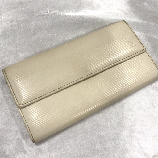 outlet store c937c 105f9 ルイヴィトン Louis Vuitton エピ 二つ折り 長財布 白