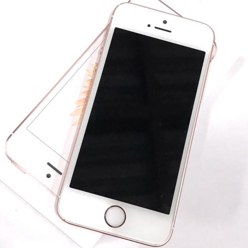7bb7d9d80a SoftBank Apple A1723 iPhone SE 32GB ローズゴールド 本体 利用制限◯ 元箱 充電ケーブル イヤホン付き