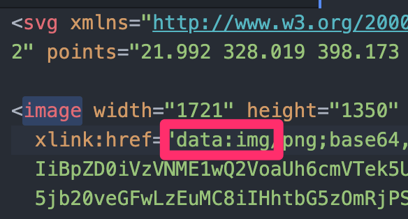 SVGファイルのxlink:href属性