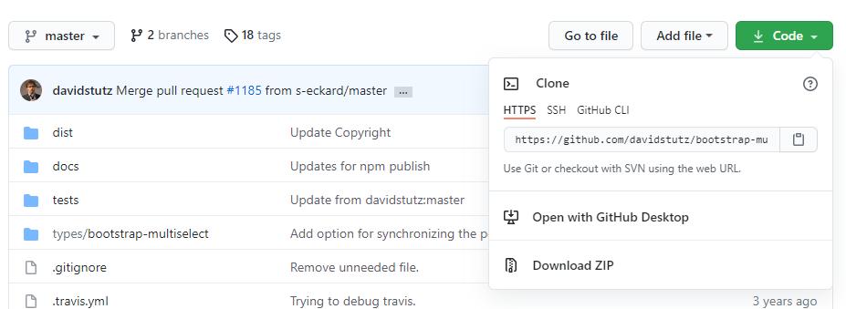 Bootstrap Multiselect GitHubの画像