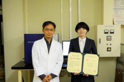 本学獣医学研究科博士課程修了の橋本茉由子さんが第164回日本獣医学会実験動物医学会の前島賞を受賞