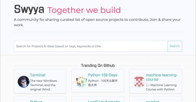 オープンソースプロジェクトのキュレーションリストを共有する「Swyya」   AnyPicks magazine
