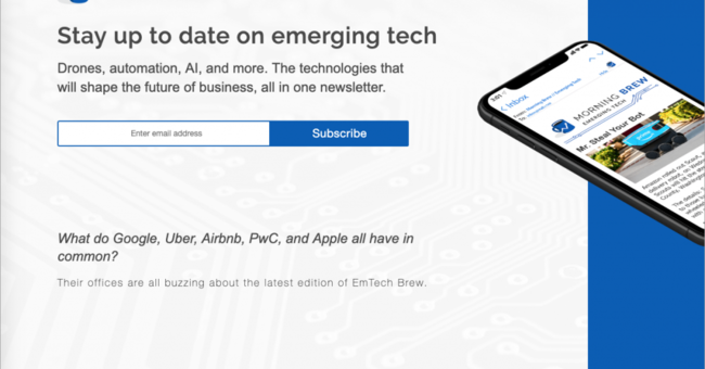 先端テクノロジーに特化した海外ニュースレターが受け取れる「EMTECH BREW」 | AnyPicks magazine