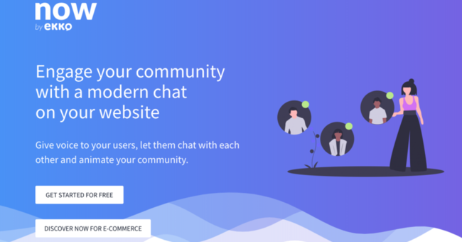スニペットだけでWebサイトにSlackライクなチャットを導入できる「now」