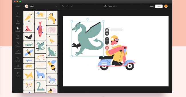3000以上の素材を組み合わせてイラスト画像がつくれる「Vector Illustration Creator」