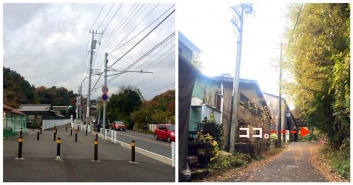 横浜市から鎌倉市へ歩いて入れる道。