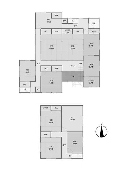 越前市大滝町 土地426.44平米 建物212.13平米 680万円