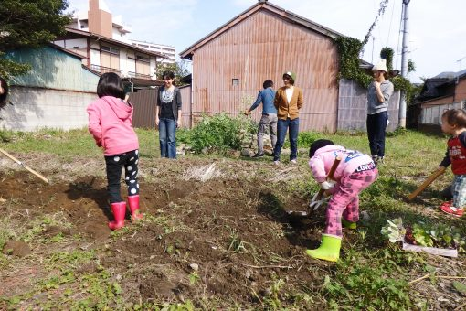 まちなかの農園で苗植え&BBQしました!