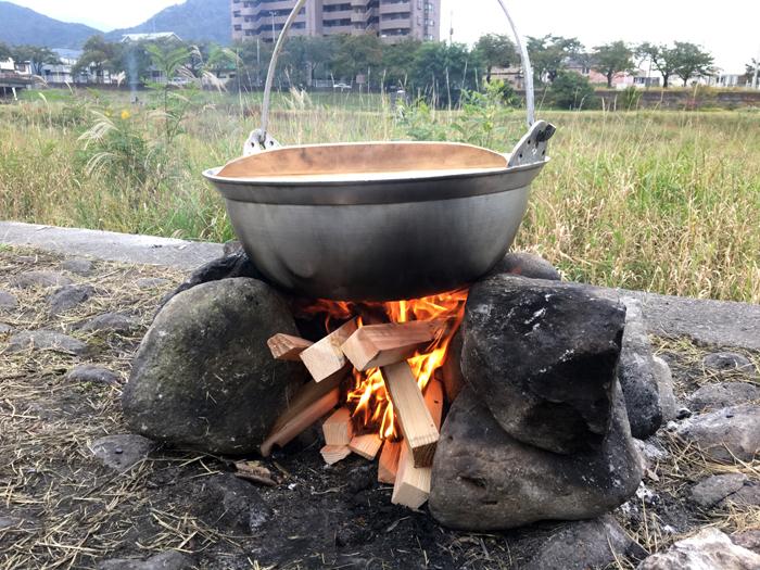 はじめての「芋煮会」