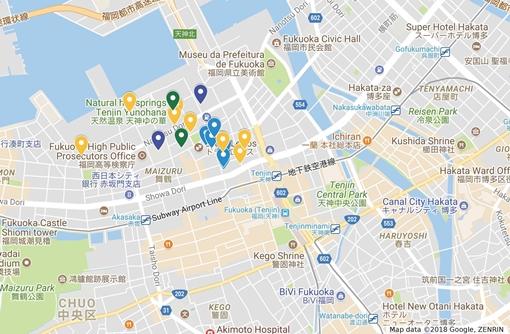 【エリアガイド】福岡中心部・舞鶴、長浜エリア