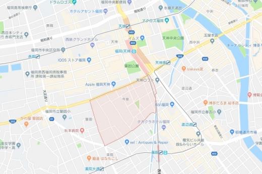 【エリアガイド】福岡中心部・今泉エリア