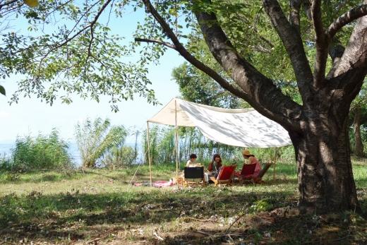 【長浜】10〜15分で湖畔でのキャンプが出来てしまう生活