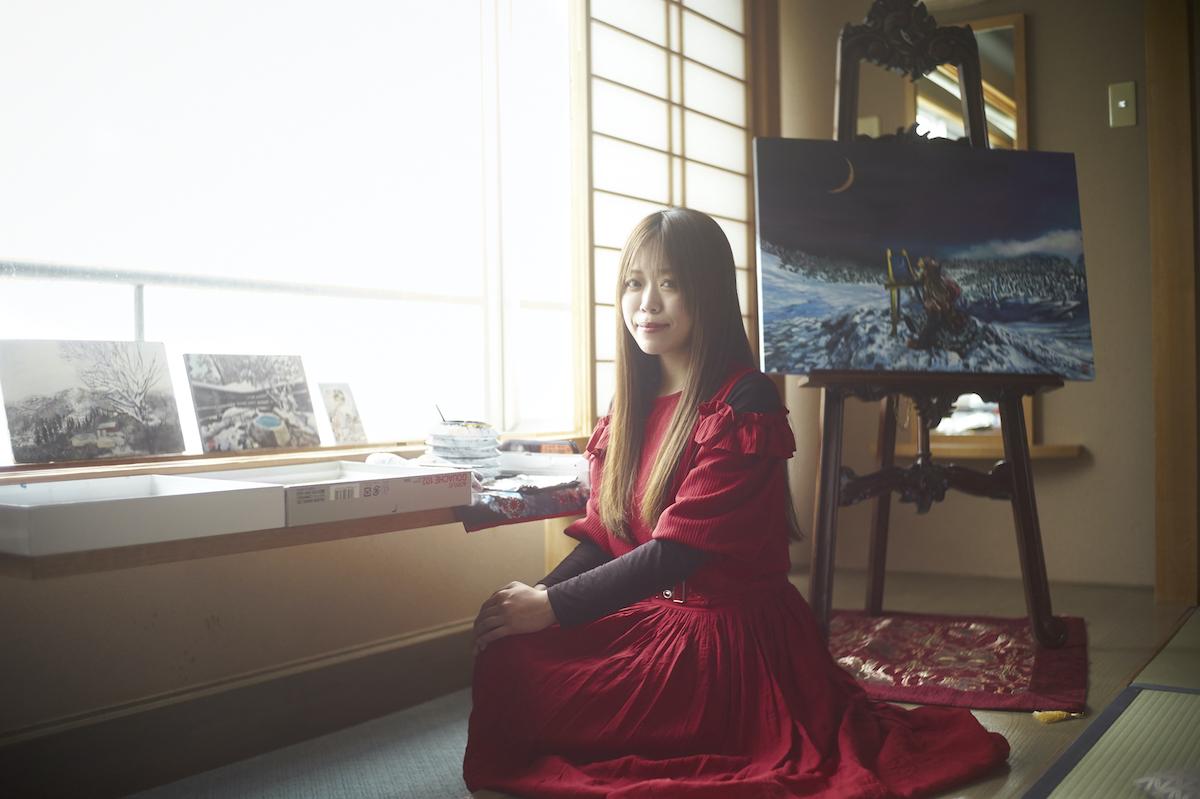 蔵王で暮らしながら制作する/画家・小林舞香さん