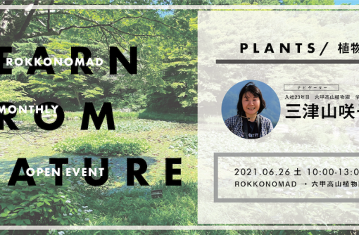 【6/26(土)】六甲山の植生と高山植物ついて、一緒に学びませんか?