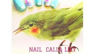 NAIL CALLA LILY