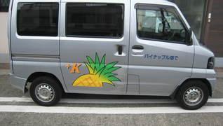 パイナップル畑で