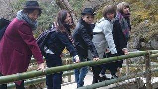 社員旅行で京都の一コマ