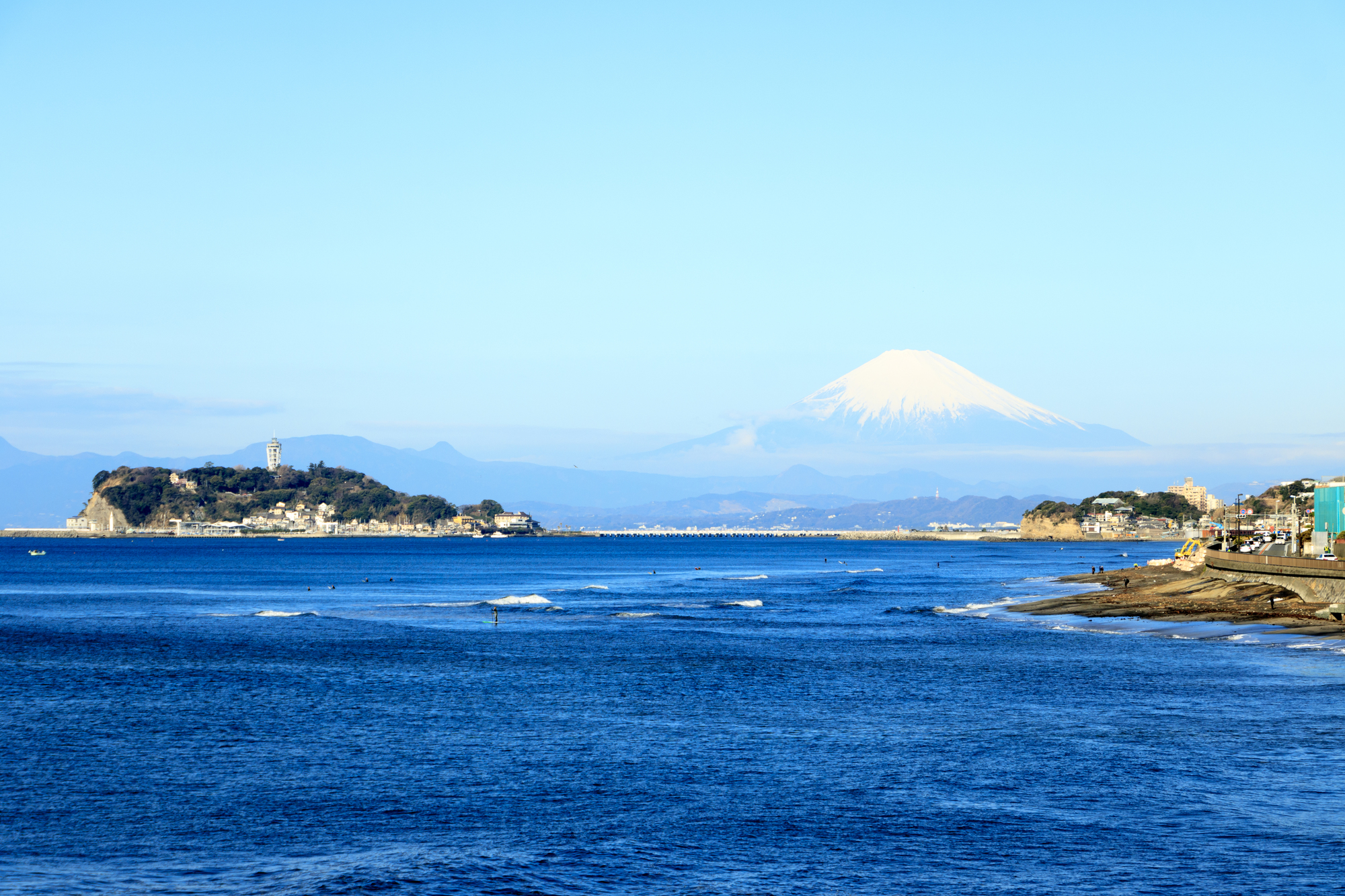 七里ヶ浜の景観(神奈川県/鎌倉市)