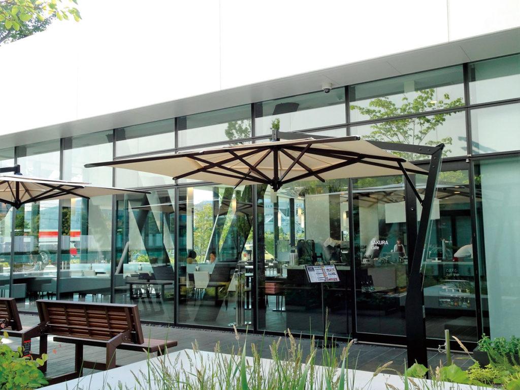 併設の宿泊施設「PLAZA annex」にあるカフェ/いすゞプラザ(神奈川県/藤沢市)
