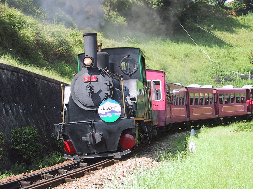 本物の蒸気機関車に乗れる/愛知こどもの国(西尾市)