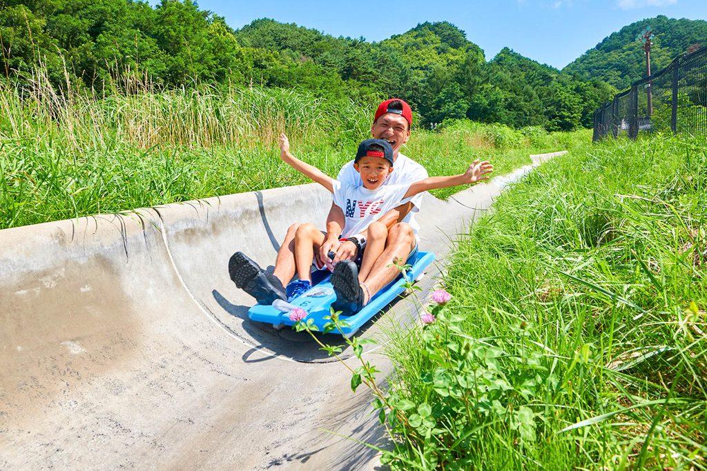 スリル満点のアトラクション「スーパースライダー」/平尾山公園(パラダ)(長野県/佐久市)
