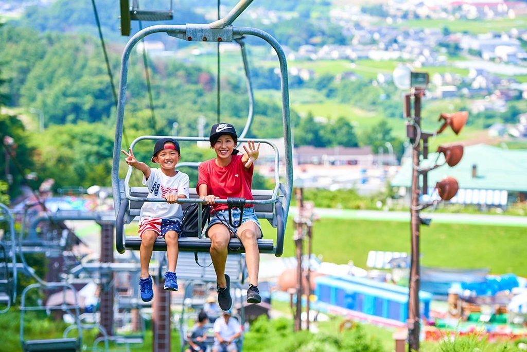景色を楽しめる「サマーリフト」/平尾山公園(パラダ)(長野県/佐久市)