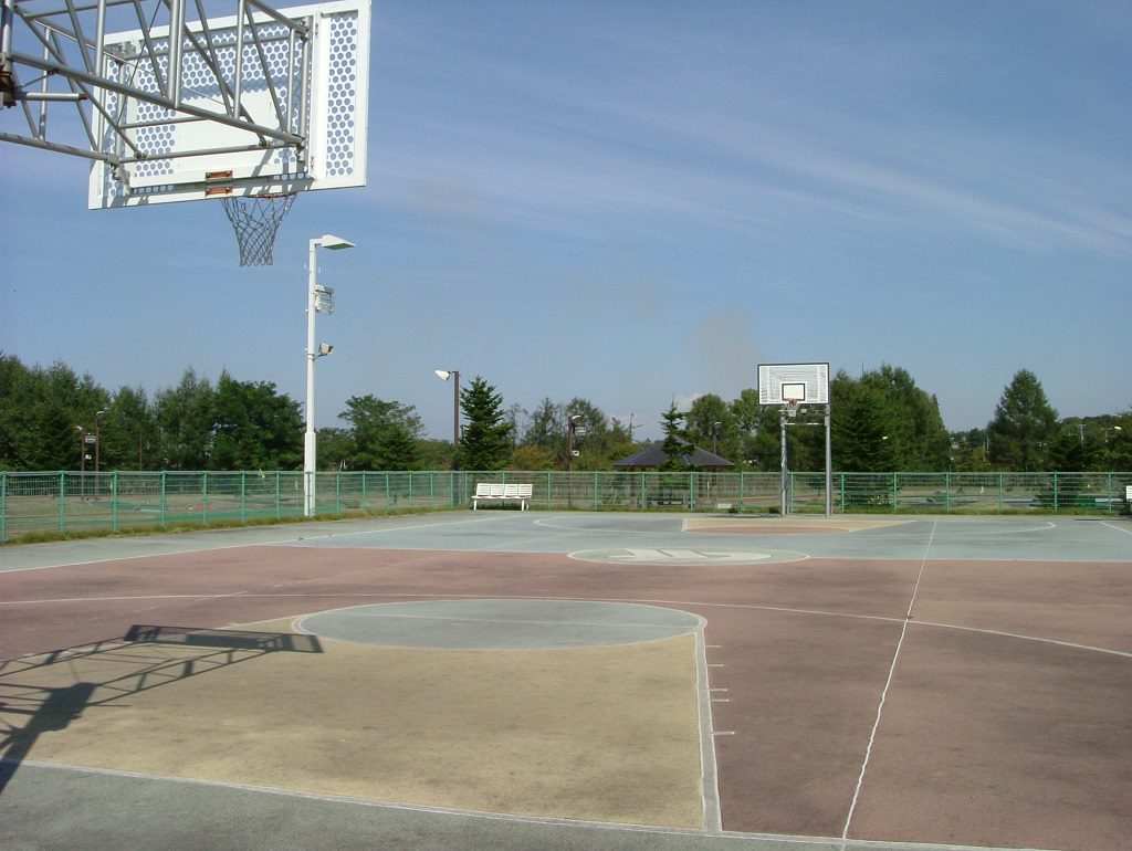スポーツの国のバスケットコート/つがる地球村(青森県)