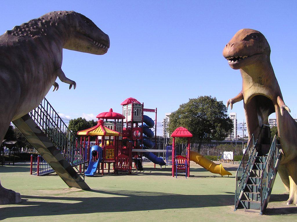 大高緑地公園にある恐竜広場/ディノアドベンチャー名古屋(愛知県)
