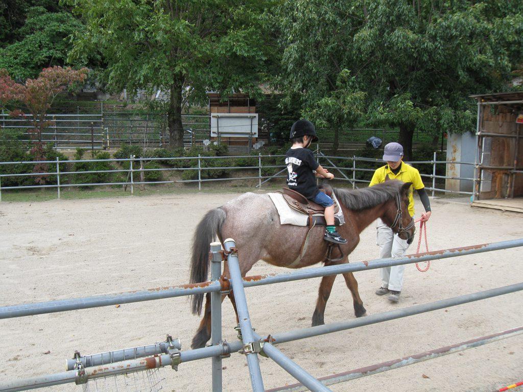 ポニーの乗馬体験の様子/須坂市動物園(長野県/須坂市)