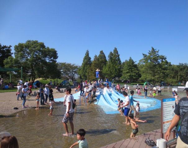 夏は親子で賑わうじゃぶじゃぶ池/とだがわこどもランド(愛知県名古屋市)