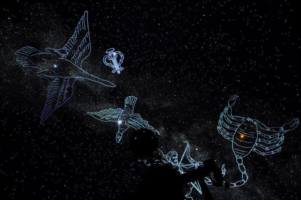 プラネタリウムで映し出される星空/5-Daysこども文化科学館(広島県/広島市)