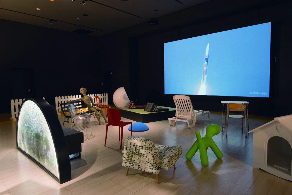 映像を眺めながらくつろげる「眺めルーム」/宇宙ミュージアムTeNQ(テンキュー)(東京都/文京区)