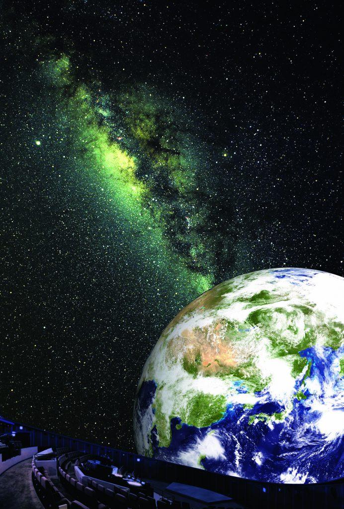 プラネタリウムの宇宙映像/ディスカバリーパーク焼津天文科学館(静岡県/焼津市)