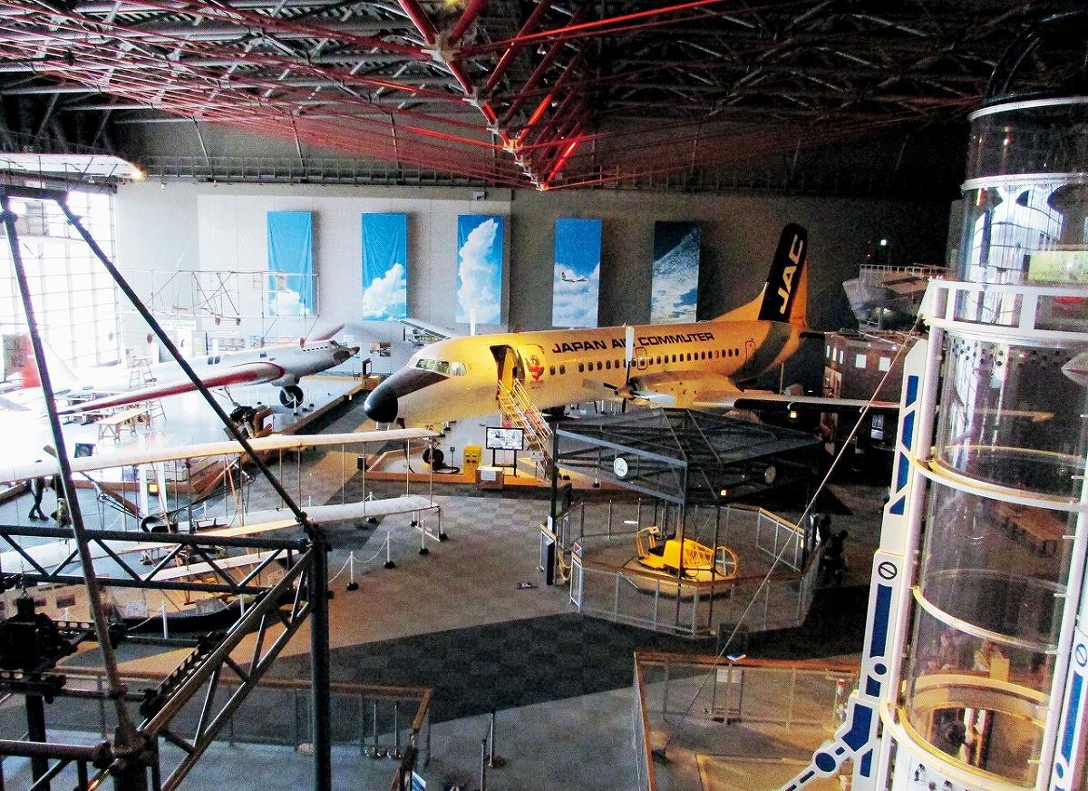 航空ゾーンに展示されている航空機/青森県立三沢航空科学館(三沢市)