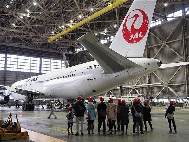 本物の飛行機が間近で見られる/JAL工場見学 ~SKY MUSEUM~(東京都/大田区)