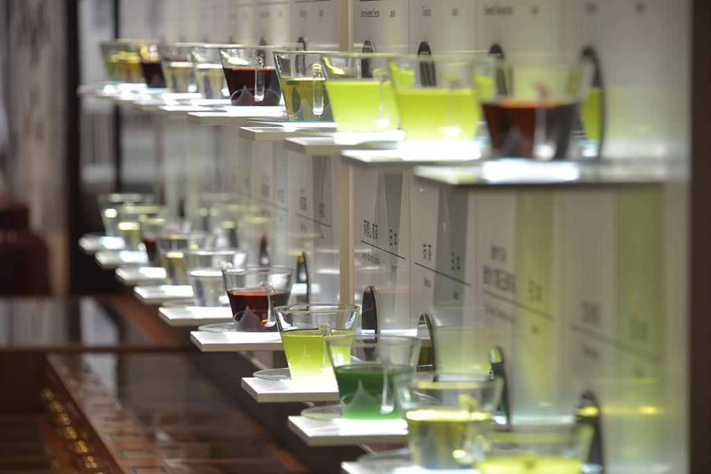 世界各国から集めためお茶を展示/ふじのくに 茶の都ミュージアム(静岡県/島田市)