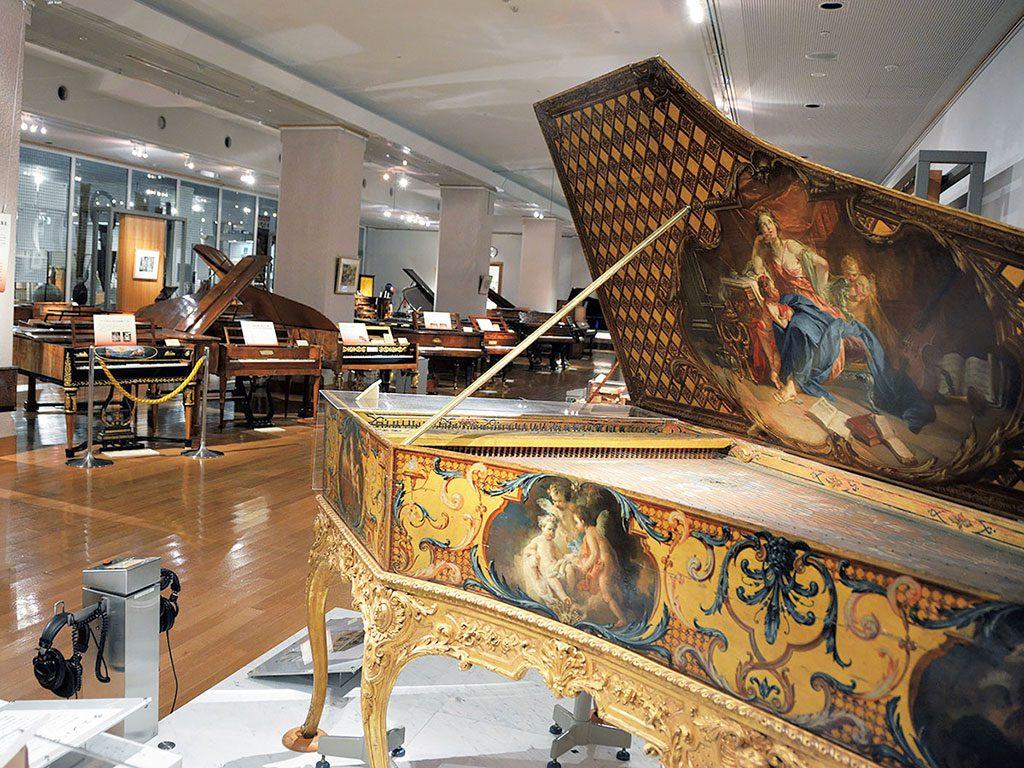 ヨーロッパの鍵盤楽器がある展示室/浜松市楽器博物館(静岡県/浜松市)